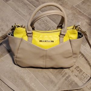 Steve Madden Taupe & Canary Yellow Satchel